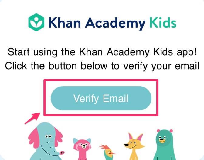 Khan Academy kids|おうちで英語を学ぶ知育アプリ【メールアドレスを承認する】